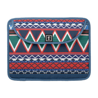 Blue & Coral Modern Tribal Macbook Pro Flap Sleeve