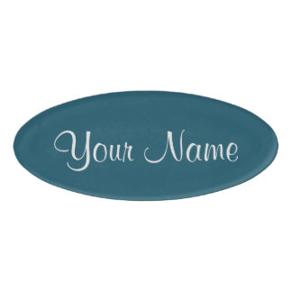 Blue Coral Name Tag
