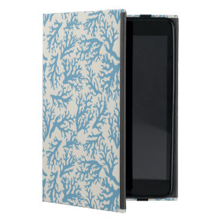 Blue Coral Pattern Cases For iPad Mini