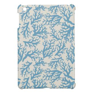 Blue Coral Pattern iPad Mini Cover