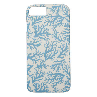 Blue Coral Pattern iPhone 7 Case
