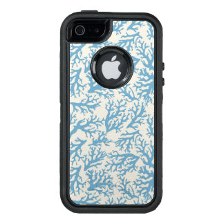 Blue Coral Pattern OtterBox Defender iPhone Case