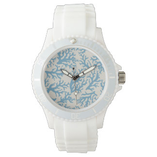 Blue Coral Pattern Watches