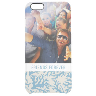 Blue Coral Pattern | Your Photo & Text Clear iPhone 6 Plus Case