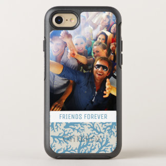 Blue Coral Pattern | Your Photo & Text OtterBox Symmetry iPhone 8/7 Case