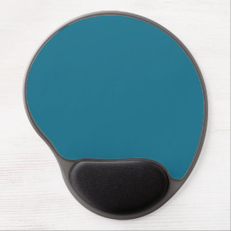 Blue Coral Steel Muted Teal 2015 Color Trend Gel Mouse Pad