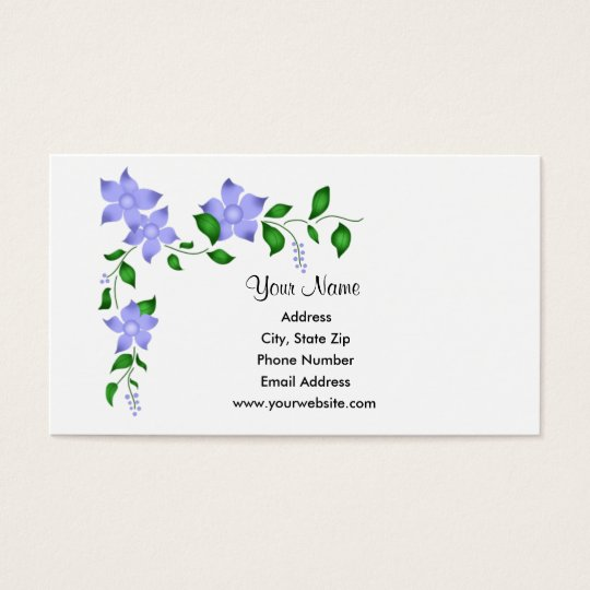 Blue Corner Flowers Business Cards