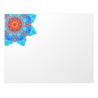 Blue Corner Star Mandala Notepad