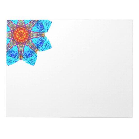 Blue Corner Star Mandala Notepad