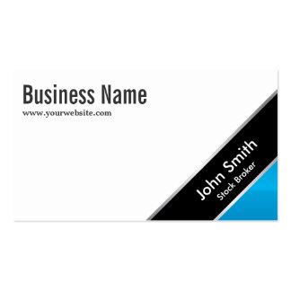 Blue Corner Stock Broker Business Card