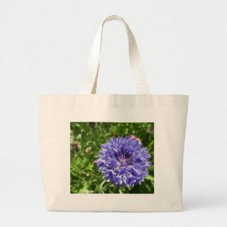 Blue cornflower canvas bag