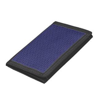 Blue Cornflower Bricks Tri-fold Wallets
