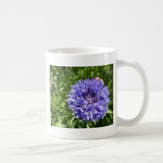 Blue cornflower coffee mug
