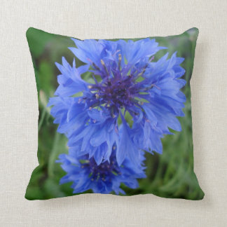 Blue Cornflower Pillow
