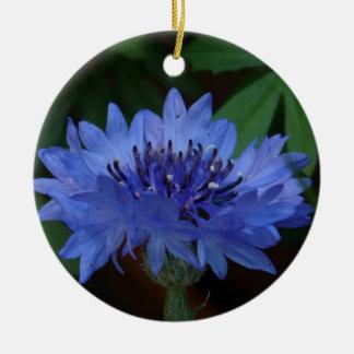 Blue Cornflower Christmas Tree Ornament