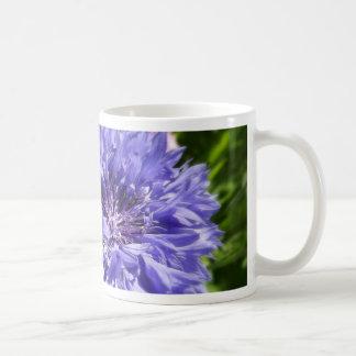 Blue cornflower mug
