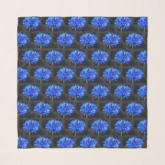 Blue Cornflower Scarf
