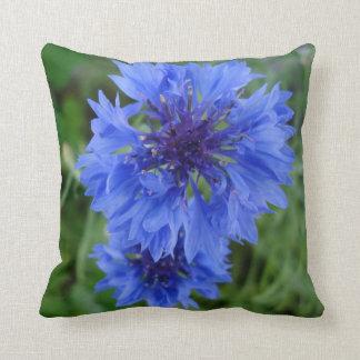Blue Cornflower Throw Cushions