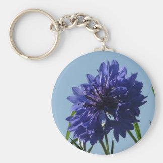 Blue Cornflowers Keychain