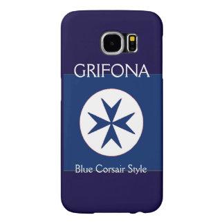 BLUE CORSAIR STYLE octagon cross