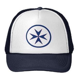BLUE CORSAIR STYLE octagon cross Cap