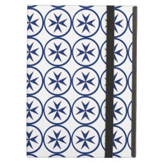 BLUE CORSAIR STYLE octagon cross Case For iPad Air