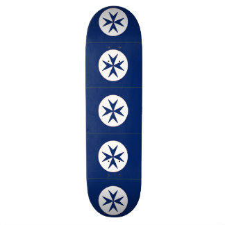 BLUE CORSAIR STYLE octagon cross Skate Deck