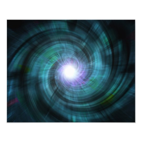 Blue Cosmic Twirl Art Photo