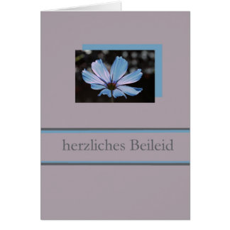 blue cosmos german sympathy card