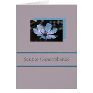 blue cosmos italian sympathy card