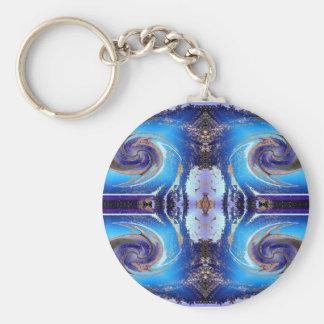 blue cosmos swirl keychains