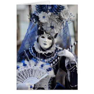 Blue Costume Card