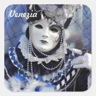 Blue Costume Square Sticker