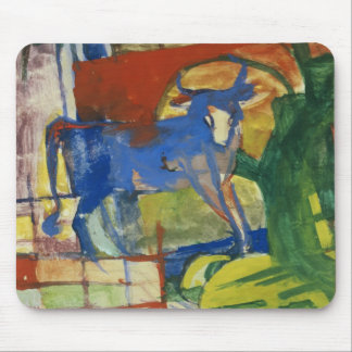 Blue Cow, 1914 (tempera on paper) Mouse Mat