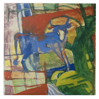 Blue Cow, 1914 (tempera on paper) Tile