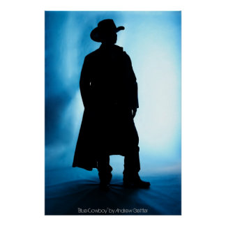 'Blue Cowboy' by Andrew Gettler Poster