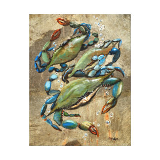 Blue Crab Ballet Gallery Wrapped Canvas