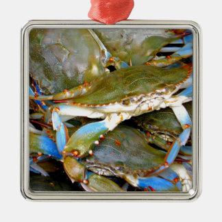 Blue Crab Christmas Ornament