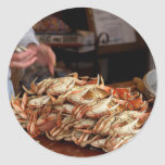 Blue Crab Feast Classic Round Sticker