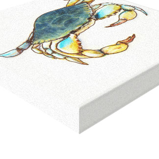 blue crab giclee canvas print
