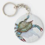 blue crab key chain