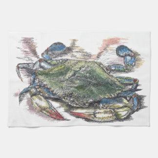 Blue Crab Kitchen Towel