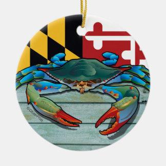 Blue Crab Maryland Christmas Ornament