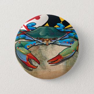 Blue Crab of Maryland 6 Cm Round Badge