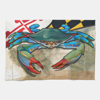 Blue Crab of Maryland Tea Towel