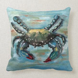 Blue Crab on Blue Cushion