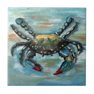 Blue Crab on Blue Tile