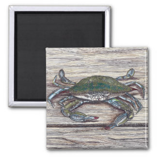 Blue Crab on Dock Magnet