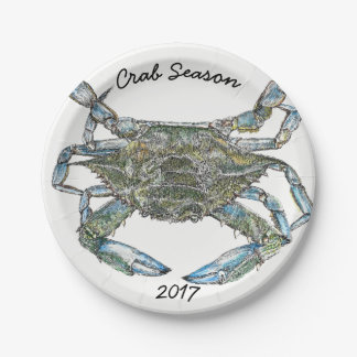 Blue Crab Paper Plate