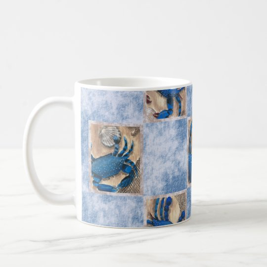 Blue Crab Pattern Mug